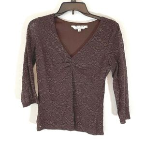 Uniform Petite John Paul Richard Sz S Brown Lace O
